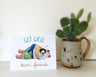 Get Well, Dear Friend Card