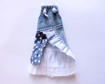 Blythe dress- Blythe sundress  - Blythe denim sundress - Denim dress  - Denim sundress -Blythe clothes - Blythe - Blythe outfit - dress