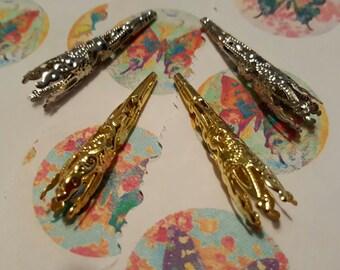 Filigree Bead Cones - 20 pcs. - Mixed Bead Cone - Gold Bead Cone -  Silver Bead Cone - Iron Bead Cone - Fancy Bead Cone - Gold Filigree Cone