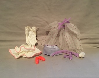 1980s Barbie Vintage Clothing with Shoes