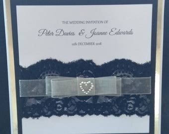 Wedding Invitation with RSVP pocket & RSVP card