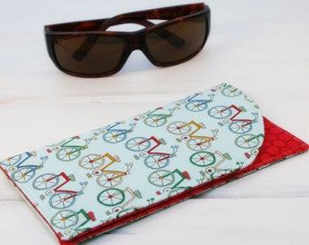 Sunglass Case, Glass Sleeve, Cases for sunglasses , Funky Sunglasses case, Bicycle Sunglass sleeves, Bike Sunglass Case