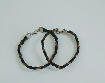 Two Braided Suede Bracelet