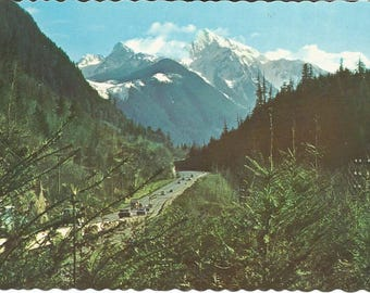 Vintage 1950s Postcard Hope Fraser Valley British Columbia BC Canada Mountain Scenery Beautiful Scenic View Card Photochrome Postally Unused