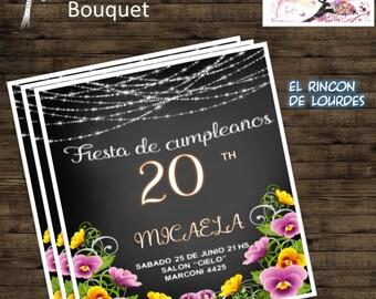 Bouquet Invitation