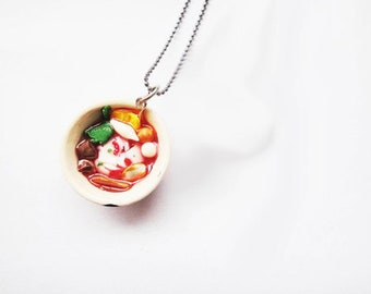 Noodle Necklaces | Food Necklaces | Food Jewelry | Miniature Foods | Thai Foods | Gift | Necklaces Cute