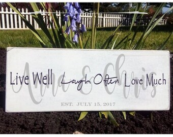 "Wedding Name Signs - 5 1/2"" x 36"""