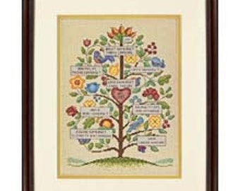 Cross Stitch Kit - Vintage Family Tree