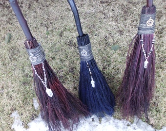 Handfasting Brooms  MADE TO ORDER, Wiccan Wedding Broom, Pagan Handfasting Ceremony, Witch's Broom, Witchcraft, Pagan,