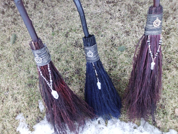 Witchs ritual broom handfasting broom wiccan wedding junglespirit Gallery