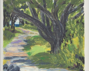 Fort Foster Path Along the Beach by Lucinda Clarke