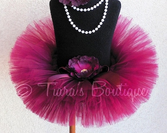 Sweet Cranberry - Custom Sewn Tutu - Up to 6'' length - sizes Newborn to 5T