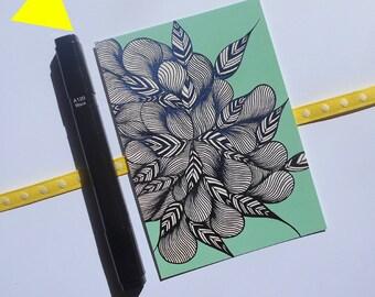 """Postcard """"still mint"""" card: Mint green and black."""