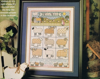 Little Lambs Sampler Counted Cross Stitch Pattern - Sheep Breed Sampler - Farm Animal Sampler