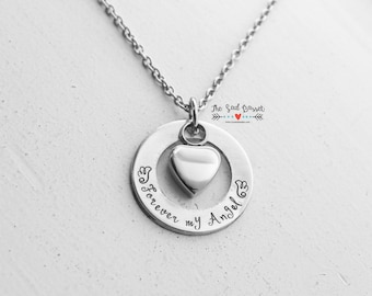 Personalized Cremation Urn Necklace | Hand Stamped Cremation Jewelry | Ash Urn Necklace | Memorial Jewelry | In Loving Memory | My Angel
