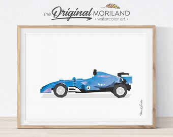 Racing Car Print, Race Car Decor, Vehicle Art, Kids Transportation, Boys Room, Toddler Printable Wall Art, Race Birthday