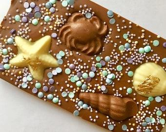 Mermaids treasure bar - mermaid - chocolate - birthday present