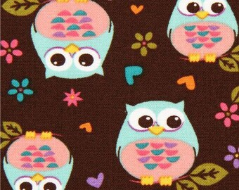 Child quilt with owls, DAVID Textiles fabric