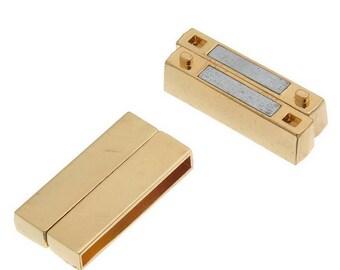 FR55 - large magnetic magnetic Golden 37x19mm for bracelets