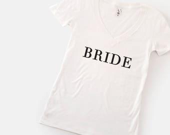 Bride T shirt. Bride Gift. Bridal Shower Gift. Bride Shirt. Bride T-shirt. Bachelorette t shirt, Bride to be Gift, bachelorette party tshirt