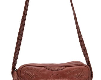 JAMAICA. Brown Leather crossbody bag / leather bag / leather shoulder bag / brown leather bag / boho. Available in different leather colors