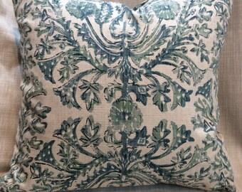 Sofia  Verde  pillow cover 18x18 20x20 22x22 24x24 26x26 13x26 12x20