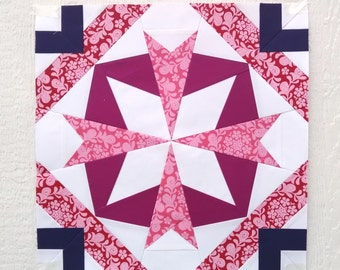 Paper Piecing - Pisces #238 - Zodiac Block of the Month - 3 sizes