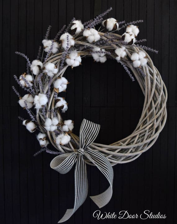 Cotton and Lavender Southern Charm Front Door Wreath
