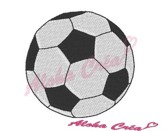 Machine Embroidery Design football ball (4 sizes) - Instant Digital Download