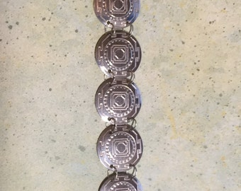 Sterling Silver (925 silver) Eye of the West 7 inch (12.5MM diameter discs) Bracelet Free Shipping
