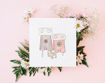 Robot Printable kids bedroom art, kids wall art, nursery art, kids room art, kids room decor, nursery wall art, cute wall art