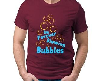 West Ham Im forever Blowing bubbles men's burgundy t-shirt.
