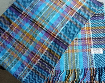 NEW Colorful Herringbone Weave Scarf 6' Cashmere Acrylic