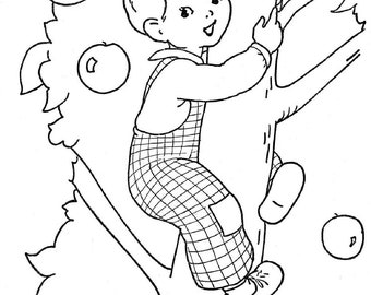 vintage coloring pages etsy - photo#24