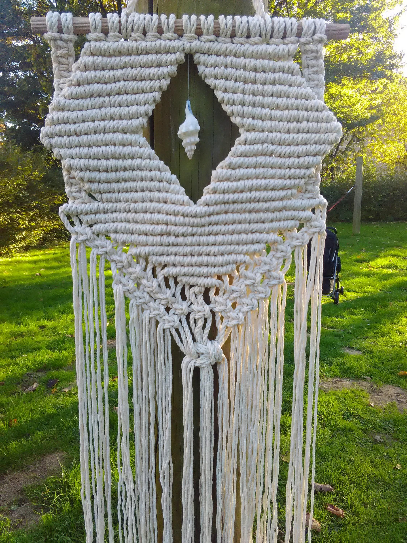 Makramee wandbehang wand dekor moderne makramee - Makramee wandbehang ...