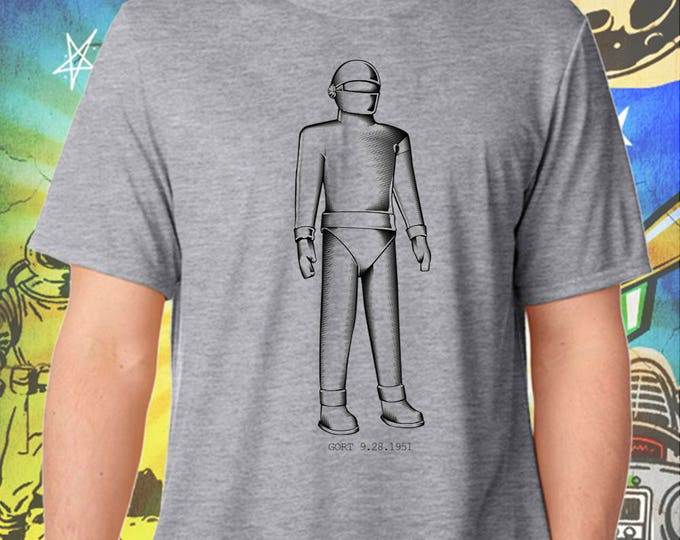 The Day the Earth Stood Still / Gort Robot / Men's Gray Performance T-Shirt