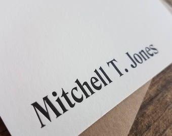 Custom Letterpress Stationery | Personalized Notecards