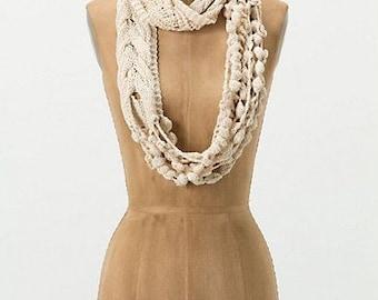 Crochet Pattern - Boho Chic Infinity Scarf/ Crochet Chunky Necklace