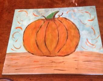 Whimsical Pumpkin Canvas