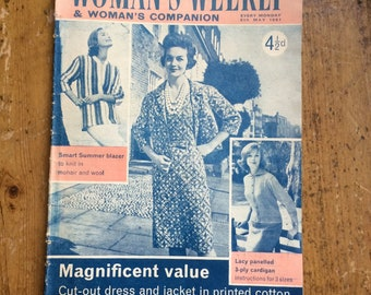 Best for Knitting - Woman's Weekly Magazine from 1961 - rare