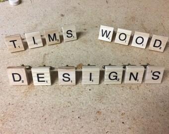 Scrabble Tile Cufflinks - Groomsmen gift, wedding gift, 5th anniversary gift