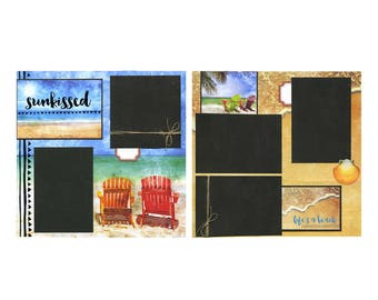 Premade Scrapbook Page Set - Sunkissed