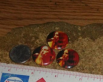 PATTI SMITH 3 one inch pin back buttons badge set