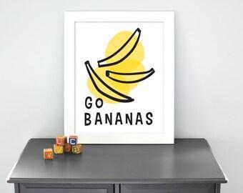 Banana - Illustrated Print
