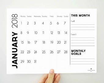 online calendars 2018