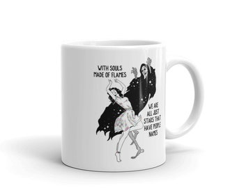 art , unque white glossy mug home and living coffee mug tea mug