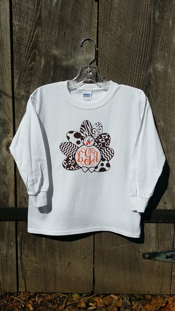 SUPER Cute Turkey Tee - SHORT Sleeve or LONG Sleeve!