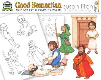 Good Samaritan clip art & coloring pages