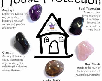 House Protection Crystal Set