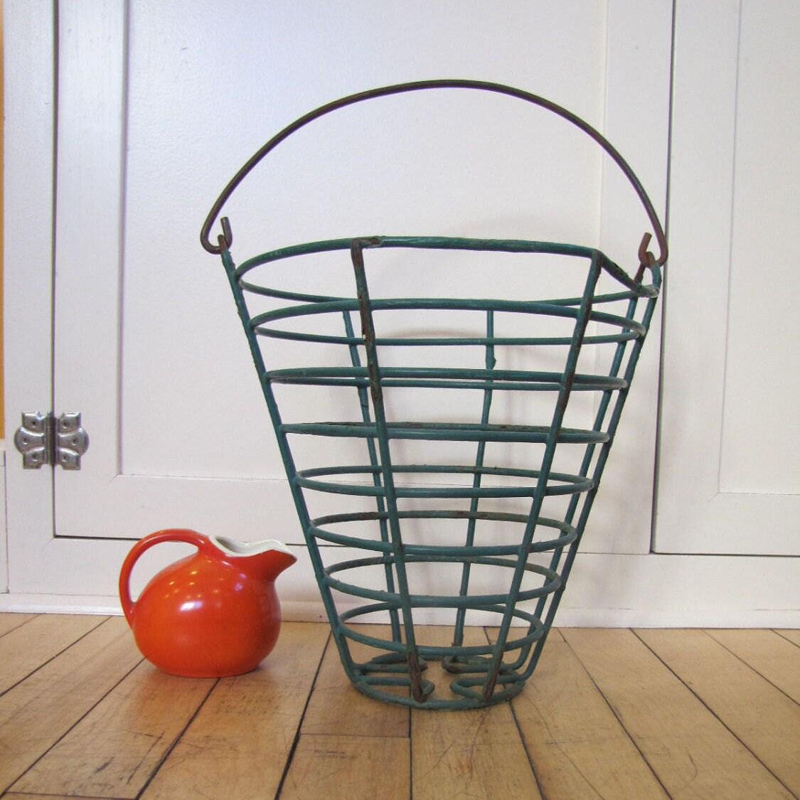1950\'s Wire Egg Basket Farmhouse Wire Egg Basket